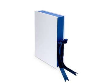 A4 Clamshell presentation portfolio box- folder with ribbon