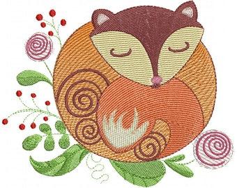 Garden Fox - Machine Embroidery Design
