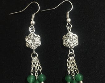 Green Chalcedony  Earring
