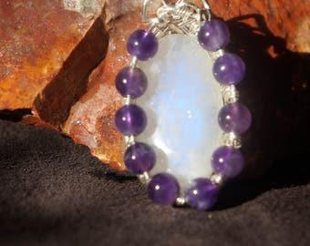 Amethyst and Moonstone pendant