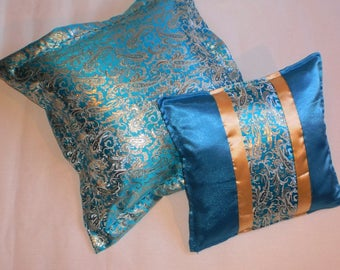 Set of 2 covers for brocade cushions in oriental style