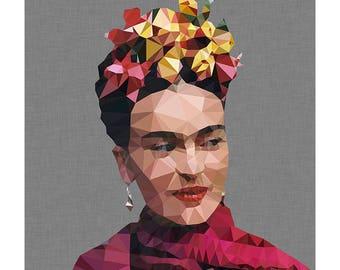 Frida Khalo geometric print (Smile)