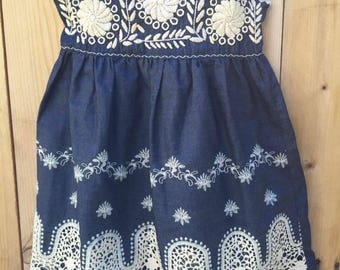 Mexican Embroidered Dress Size 3 Toddler