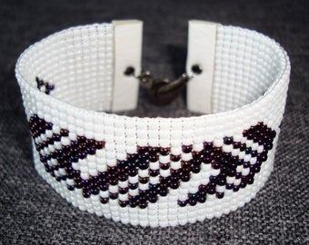 Loom beaded bracelet for her