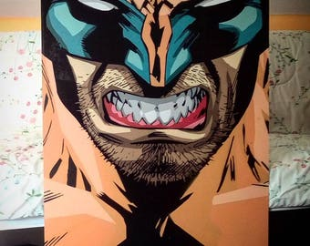 Stencil of Wolverine, 10 Layer, Handmade from Chile