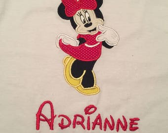 Minnie Mouse appliqué shirt