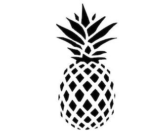 Pineapple decal , Pineapple sticker , Car decal , car sticker , Decal
