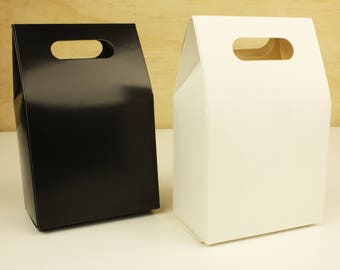 Black / White KRAFT RETRO STYLE Party Favour Boxes Bags Lolly Candy Box Gift Bag