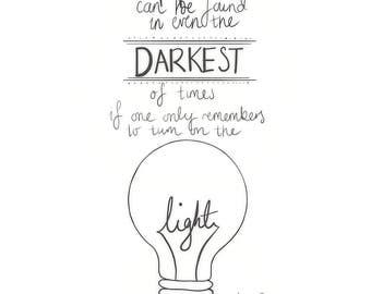Albus Dumbledore Quote Print