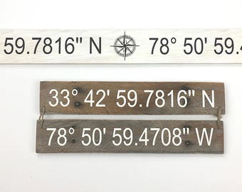 Latitude Longitude Coordinates sign