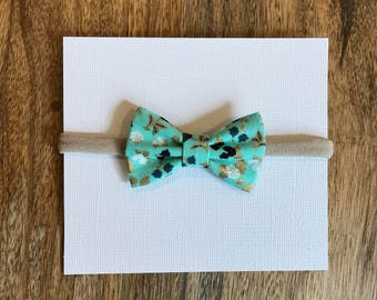 MINI bow nylon headband (multiple color options)