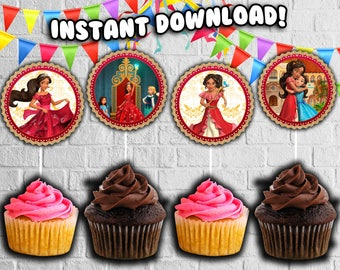 ELENA OF AVALOR cupcake toppers,birthday party decorations,Princess Elena P