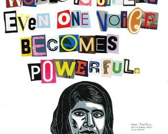 Malala Yousafzia Poster (Badass Quotes By Badass Women Collection)
