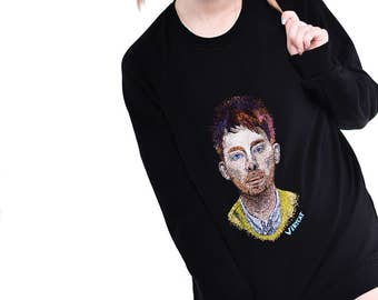 Sweatshirt with Thom Yorke embroidery
