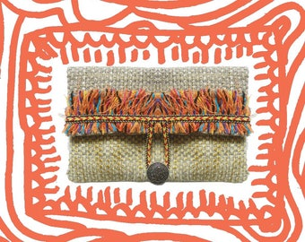 Ethnic fringe clutch