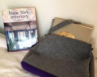 Handbag made of felt - 2 colors