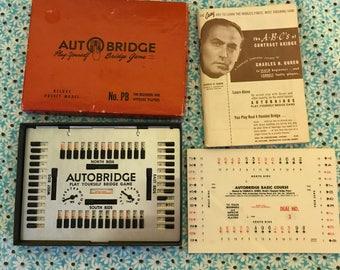 Vintage Auto Bridge Play Yourself Bridge Game