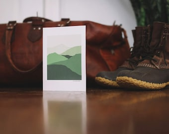 Green Mountain Note Card