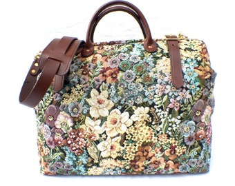 Mary Poppins Fabric 'Carpet' Travel Bag, Hand Made in England, Free Shipping Worldwide!