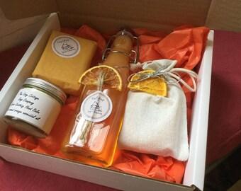 Gift Box - sweet orange bath and beauty