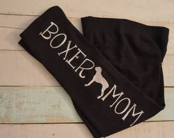 Dog Mom/ Boxer Mom Sweats/ Sweat Pants/ Customized Sweat Pants