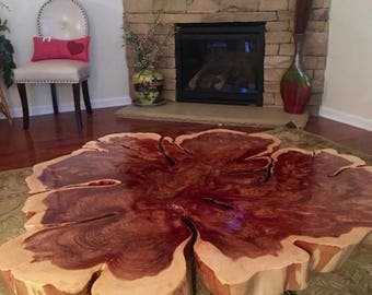 Cedar Raw Edge Coffee Table