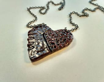 polymer clay jewelry heart