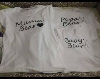 Mama bear , papa bear , baby bear