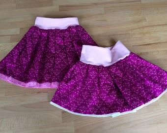 Children costume skirt, skirt, pleated skirt - Dee's needle - Gr. 116