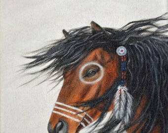 Indian Horse, oil painting