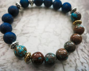 Agate and Lapis Bracelet