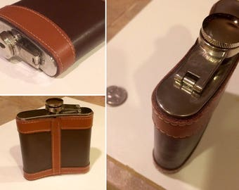 Top Shelf Flask 6oz. Flask in leather