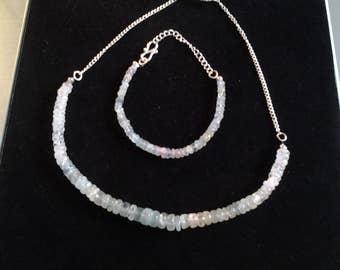 An amazonite necklace and bracelet set