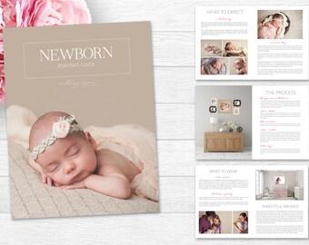 Newborn Magazine Template - Newborn Welcome Magazine - Photography Marketing Template - Baby Magazine - Newborn Photography Guide - Magazine
