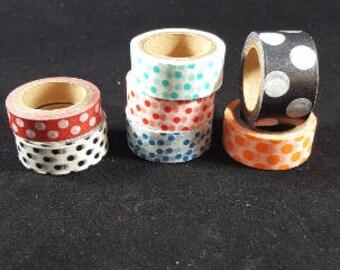 CHOICE of Polka Dot 5 yard Washi Tape