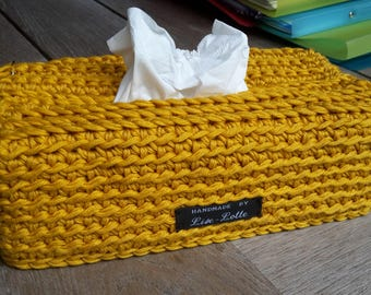 ochre handy crochet sleeve cover for tissuesbox