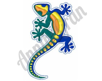 Colorful Gecko - Machine Embroidery Design