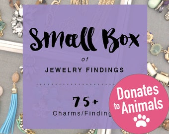 Small Box Broken Jewelry Findings Lot - Proceeds Donated!