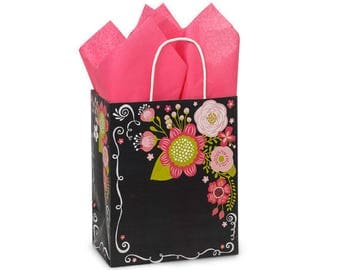 Chalkboard Gift Bag with Tissue Paper (set of 20)