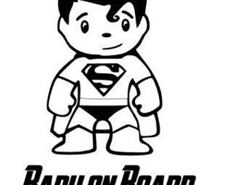 Bumper sticker - Super baby