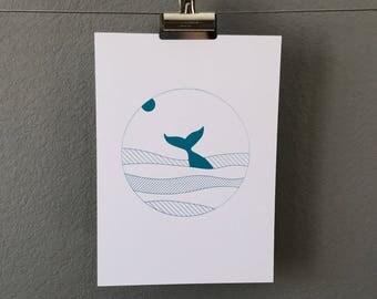 Whale Tail – Screen Print