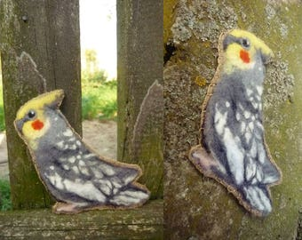 CUSTOM OOAK felted bird ornament