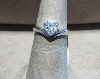 18Kt White Gold Princess Cut Diamond Ring