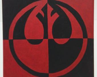 Rebel Logo Painting