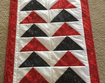 Red and Black Advent quilt