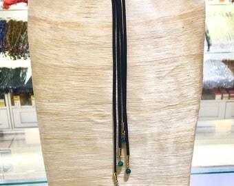 Malachite and Leather