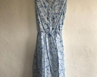 Vintage Blue Splash Dress Size 10