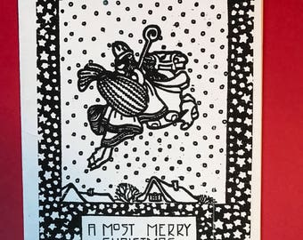 A Most Merry Christmas Card, set of eight