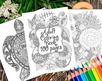 100 PAGES Coloring Bookcoloring Page