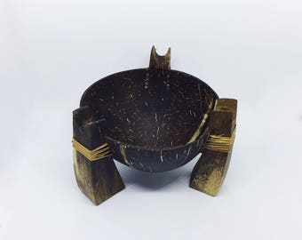 Ashtray/Candlestick made by coconut shell